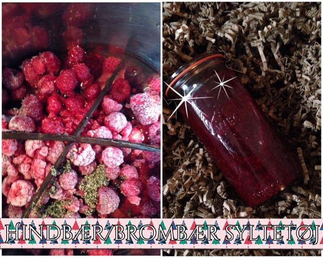 hindbær brombær syltetøj